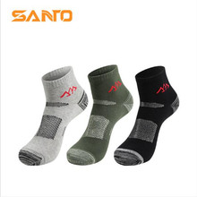 3 Pairs SANTO S002 Outdoor Cotton Socks Mens Sports Quick Dry Spring Summer Fit to Size 39-43