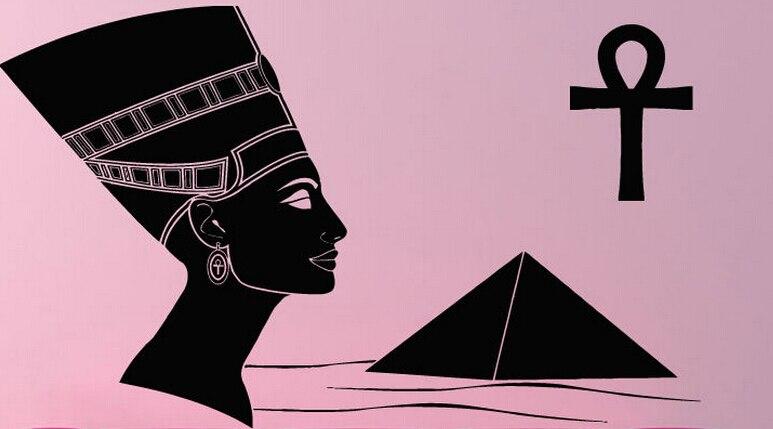 ᗛ2015 nueva llegada la pirámide pared del vinilo reina Nefertiti ...