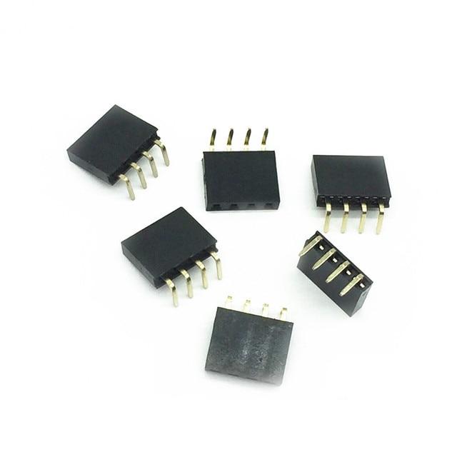 2.54mm R/A Single Row Female 2~40P PCB Board Right angle Pin Header socket Connector Pinheader 1*3/4/5/6/40Pin For Arduino