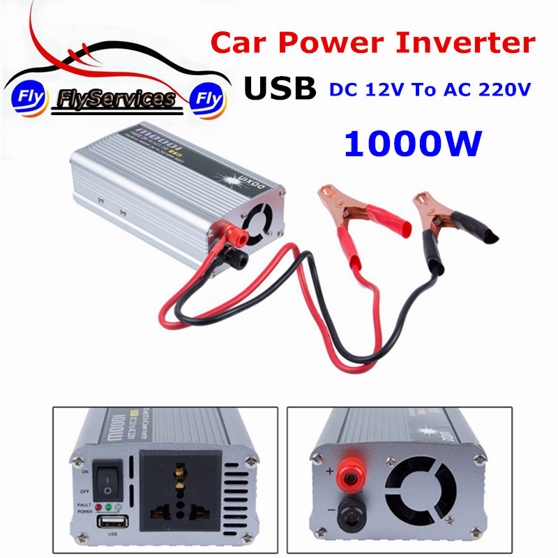 <font><b>1000w</b></font> DC12V to AC 220V Car Power Inverter With USB Charger Converter Adapter DC <font><b>12</b></font> to AC <font><b>220</b></font> Modified Sine Wave image