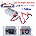 1000 w DC12V para AC 220 V Inversor de Potência Do Carro Com USB Adaptador de carregador Conversor DC 12 a AC 220 Modificado Sine onda