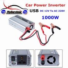 1000 Вт DC12V к AC 220 В автомобиля Мощность инвертор с USB Зарядное устройство конвертер адаптер DC 12 до AC 220 модифицированная синусоида
