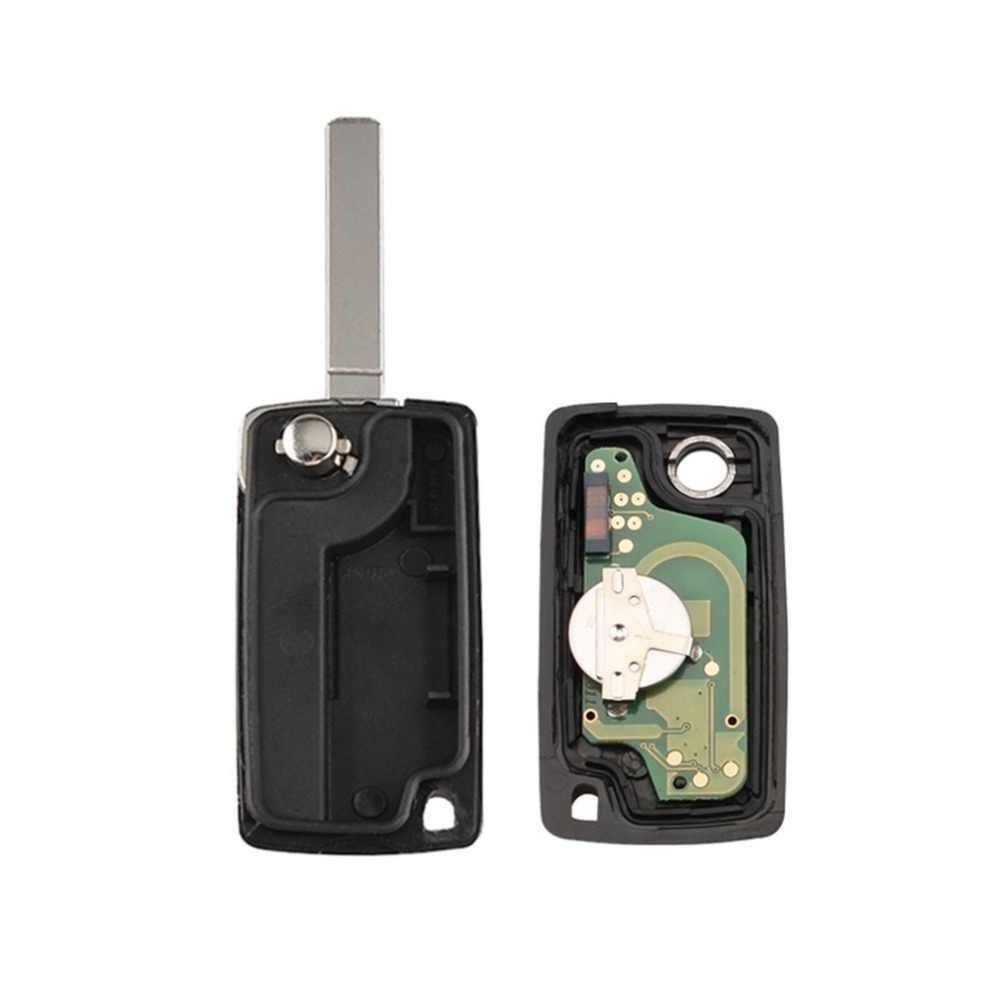3 أزرار التحكم عن بعد مفتاح السيارة إنذار عن بعد الوجه السيارات مفتاح فوب ل PSA بيجو سيتروين الجذع مع PCF7941 شريحة جهاز إرسال واستقبال