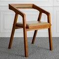 El Nordic contratado y contemporáneo de madera maciza Americana real mesa de comedor de madera silla de la computadora silla sillón restaurante del hotel