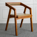 The Nordic solid wooden contracted and contemporary American real wood chair desk chair computer chair armchair restaurant hotel