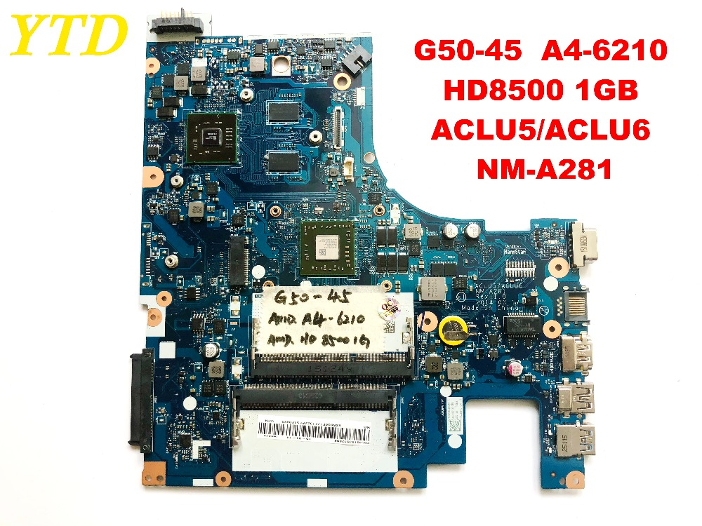 Original for Lenovo G50-45  laptop motherboard G50-45  A4-6210  HD8500 1GB  ACLU5ACLU6  NM-A281  tested good  free shipping Original for Lenovo G50-45  laptop motherboard G50-45  A4-6210  HD8500 1GB  ACLU5ACLU6  NM-A281  tested good  free shipping