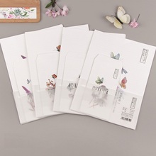 Butterfly Envelope Paper Korean Stationery Gift 6-Sheets Cute for 9pcs/Set