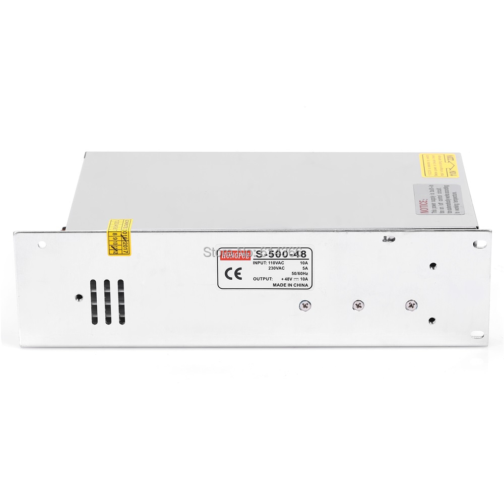 500 W 48 V Alimentation 48V10A LED Pilote S-500-48 Alimentation Économique type 48 V 10A