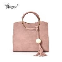 YBYT Brand 2017 New Vintage Casual Tassel Women Satchels Simple Female Shopping Handbag Ladies Shoulder Messenger