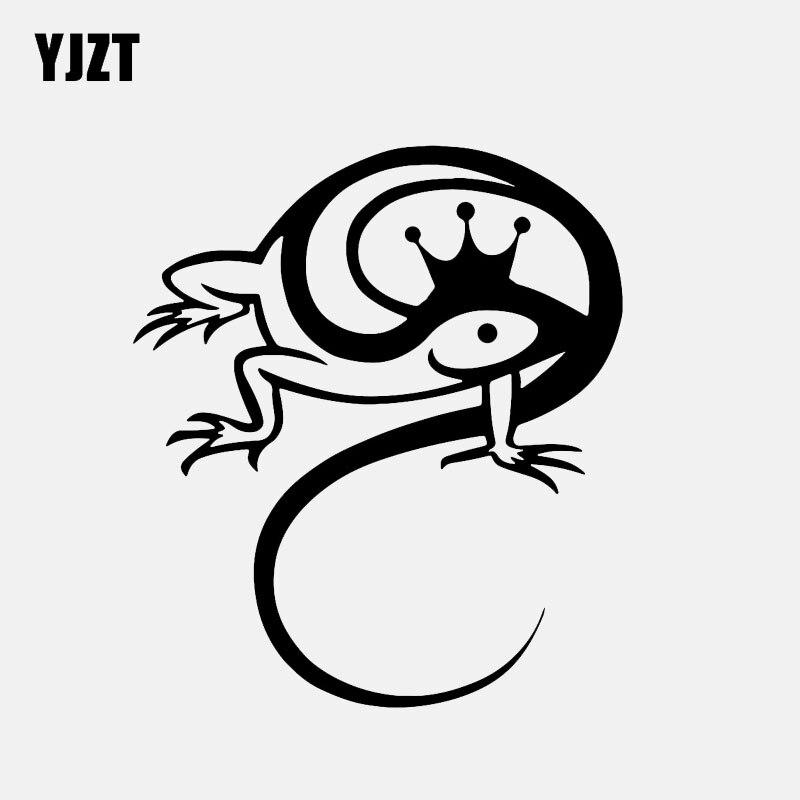 YJZT 10,7*12,3 см Симпатичные Lizard Chameleon Винил Декор наклейки аксессуары персонализированные силуэт C12-1215