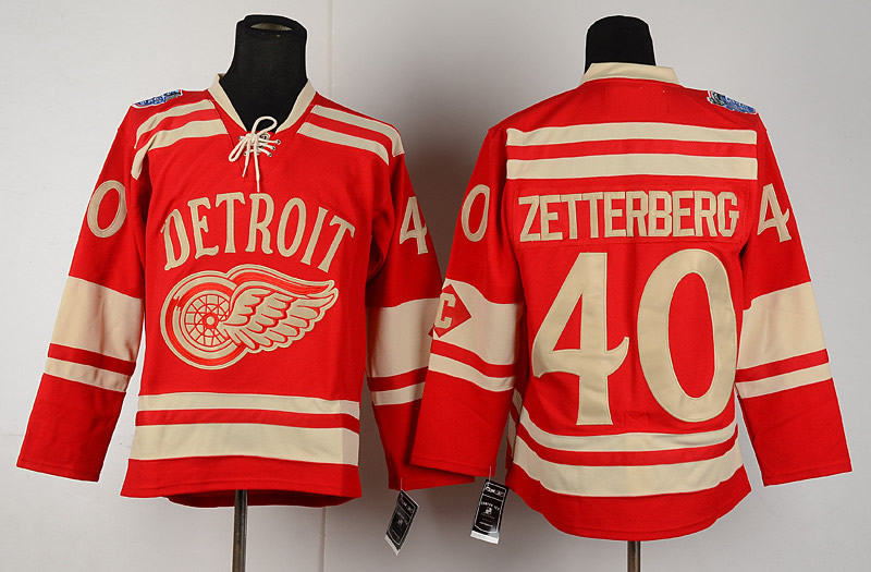 new style 4c4d8 0eed7 nhl jerseys detroit red wings 40 henrik zetterberg winter ...