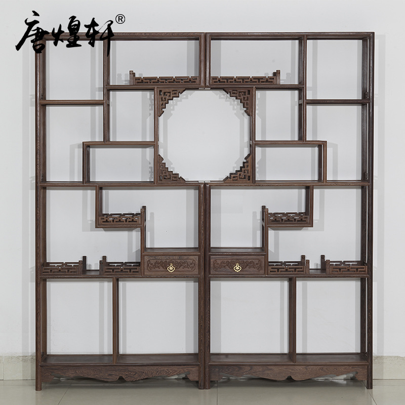 Tang Huangxuan Mahogany Wood Shelf Wooden Curio Factory Direct Display Rack Teapot