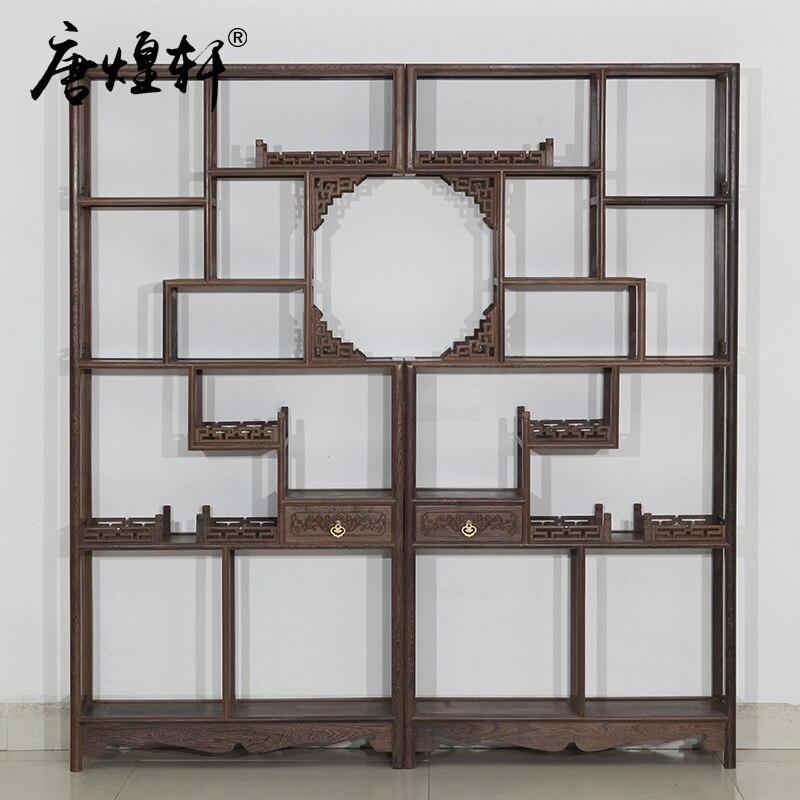 Tang Huangxuan Mahogany Wood Shelf Wooden Curio Factory Direct Display Rack Teapot
