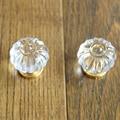 35*35mm Abóbora Acrílico decoração de Móveis Puxadores de Cristal Armário Closet Dresser gaveta Handle Knob Alças