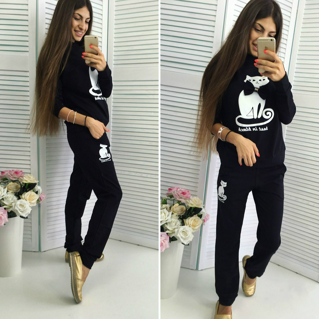 Free shipping S-XL aliexpress 2016 spring suit suit Cotton Hooded explosion printing sport suit women's sets