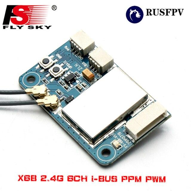 Flysky X6B 2,4G 6CH i-bus PPM PWM receptor para AFHDS i10 i6s i6 i6x i4x helicóptero transmisor avión FPV que compite con el zángano