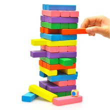 Package mail educational board games color wooden folding le 48  domino wooden toys adult children's educational toys