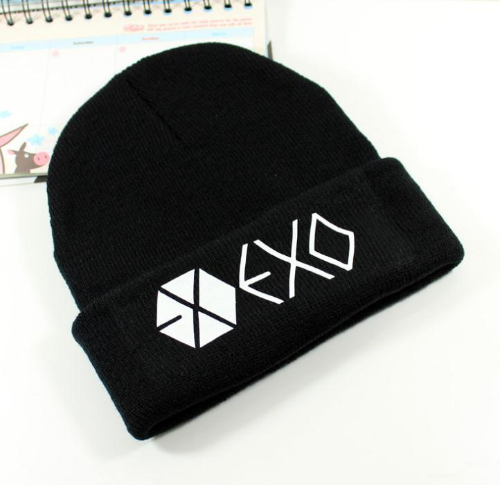 Kpop exo hats wool cap Bangtan children with paragraph Korean wool cap Harajuku couple k-pop bts exo Skullies coverage caps cap 2017 hot sale kpop fashion harajuku bts infinite fisland boyfriend snsd bap tvxq shinee umbrella