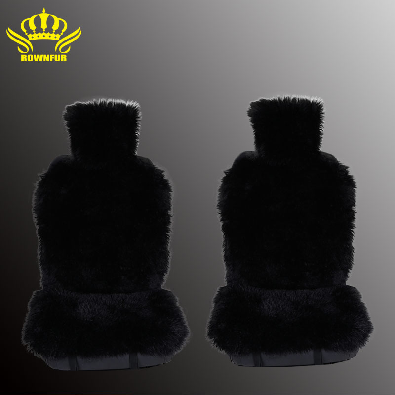 2pc  faux fur car seat cover 5colors  universal size for all types of seats Very warm  nice and soft for car lada granta