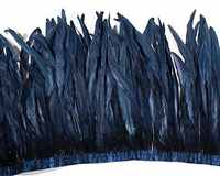 Asia Ra 2018 new arrival! 1 Yard navy blue rooster tails feather trims 25-30cm 30-35cm 35-40cm coque feather trim for wedding