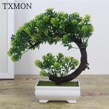 Цветы искуственные декор для дома Искусственные растения бонсай маленькое дерево горшок растения поддельные цветы го