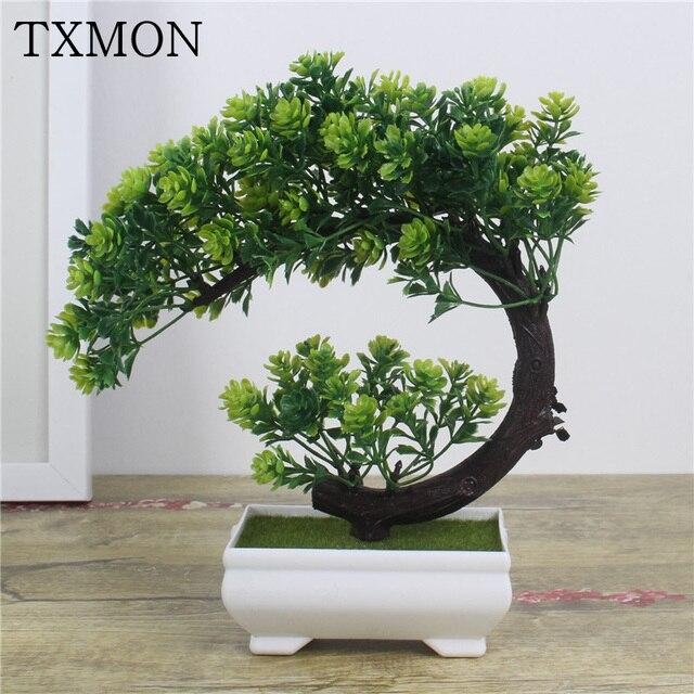 Tanaman Buatan Bonsai Pohon Kecil Pot Tanaman Palsu Bunga Pot Hiasan untuk Dekorasi  Rumah Hotel Dekorasi 23adb0dec5