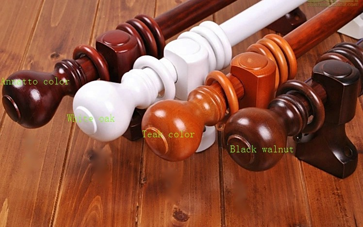 classical 30mm curtain rods diameter wood color 200cm. Black Bedroom Furniture Sets. Home Design Ideas