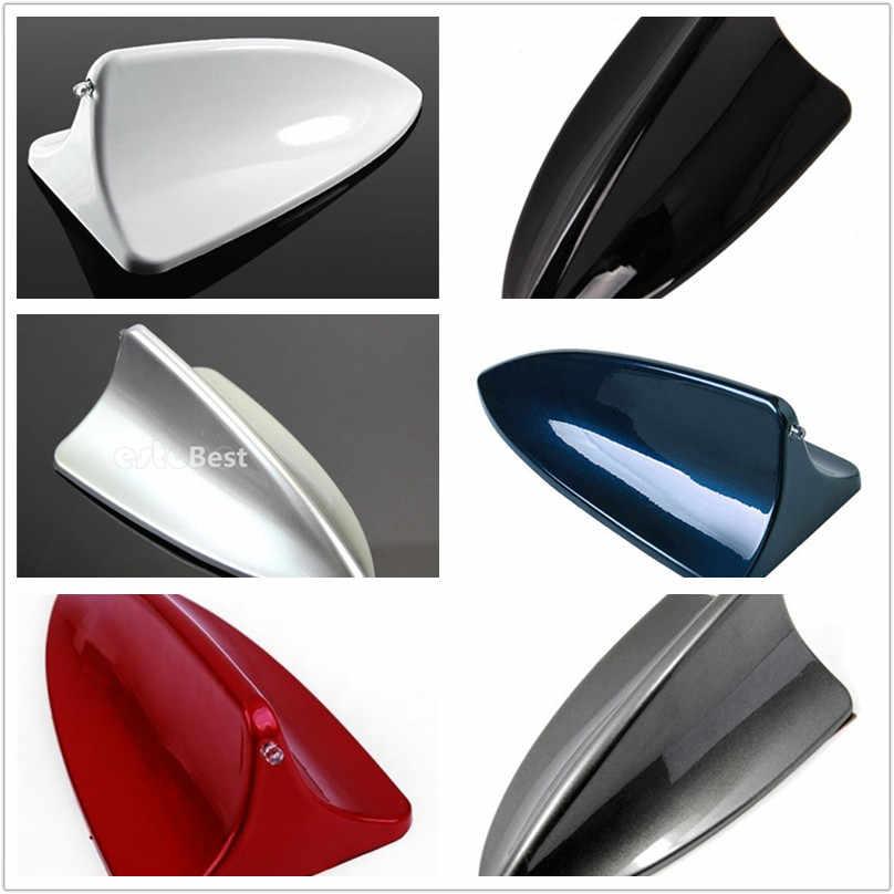 Newbee الرمادي الداكن الأبيض/الأحمر/الأزرق/الأسود/الفضة رمادي ABS البلاستيك سيارة سقف هوائي الديكور القرش زعنفة هوائي ديكور الجوي