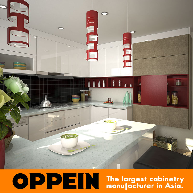 Bangladesh New Design Project Double Color Lacquer Kitchen