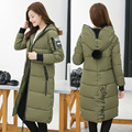 2016 Women Winter Hooded Down Cotton Jacket Elegant High quality Large size Long Women Coat Thick Female Warm Clothes Parka