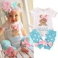 Ropa de Bebes Tops Mamelucos Conejo Bordado de los Bebés Boutique Trajes 2 unids Ropa Outfit Mameluco + Calentador de La Pierna conjunto