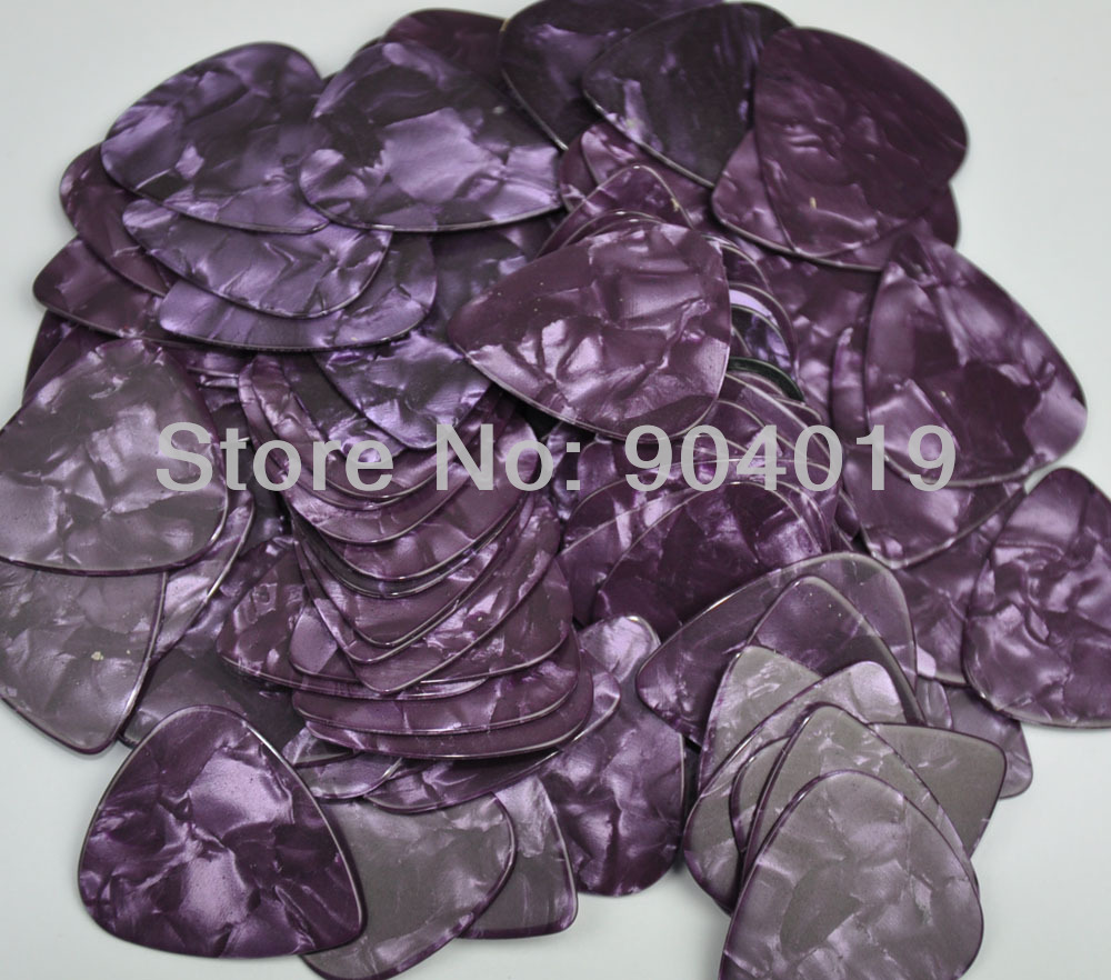 Lots of 100 pcs New Heavy 0.96mm Blank Guitar Picks Celluloid Pearl Purple