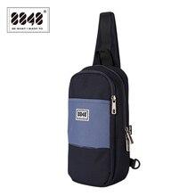 8848 Fashion Men Messenger Bag Small Shoulder Bag Chest Pack Bag Crossbody Sling Bag Large capacit Single-strap Bag Navy 096-040 zero halliburton zest navy shoulder bag