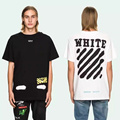 2017 New Arrival Off White T-shirt Das Mulheres Dos Homens Hip Hop algodão marca clothing summer fashion striped kanye west off white camisetas