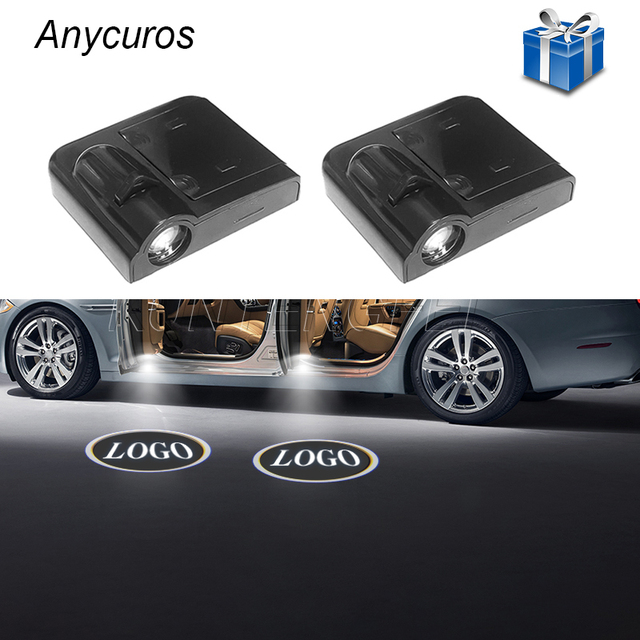 Anycuros Custom Made Universal Car Door Welcome Light Wireless Car