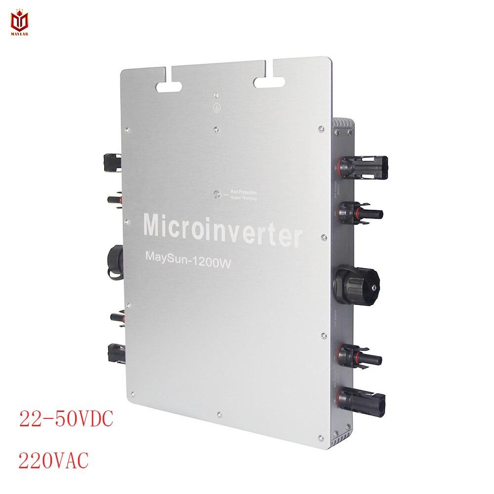 MAYLAR @ Impermeabile WVC Maysun1200W 22-50VDC Solare sul legame di griglia micro inverter con Funzione di MPPT 4 2 metri Cavo Solare convertitore