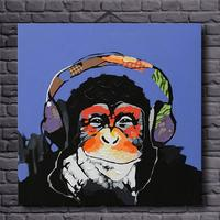 Handmade Modern Thinking Gorilla Art Oil Painting On Canvas For Living Room Decor Animal Paintings No