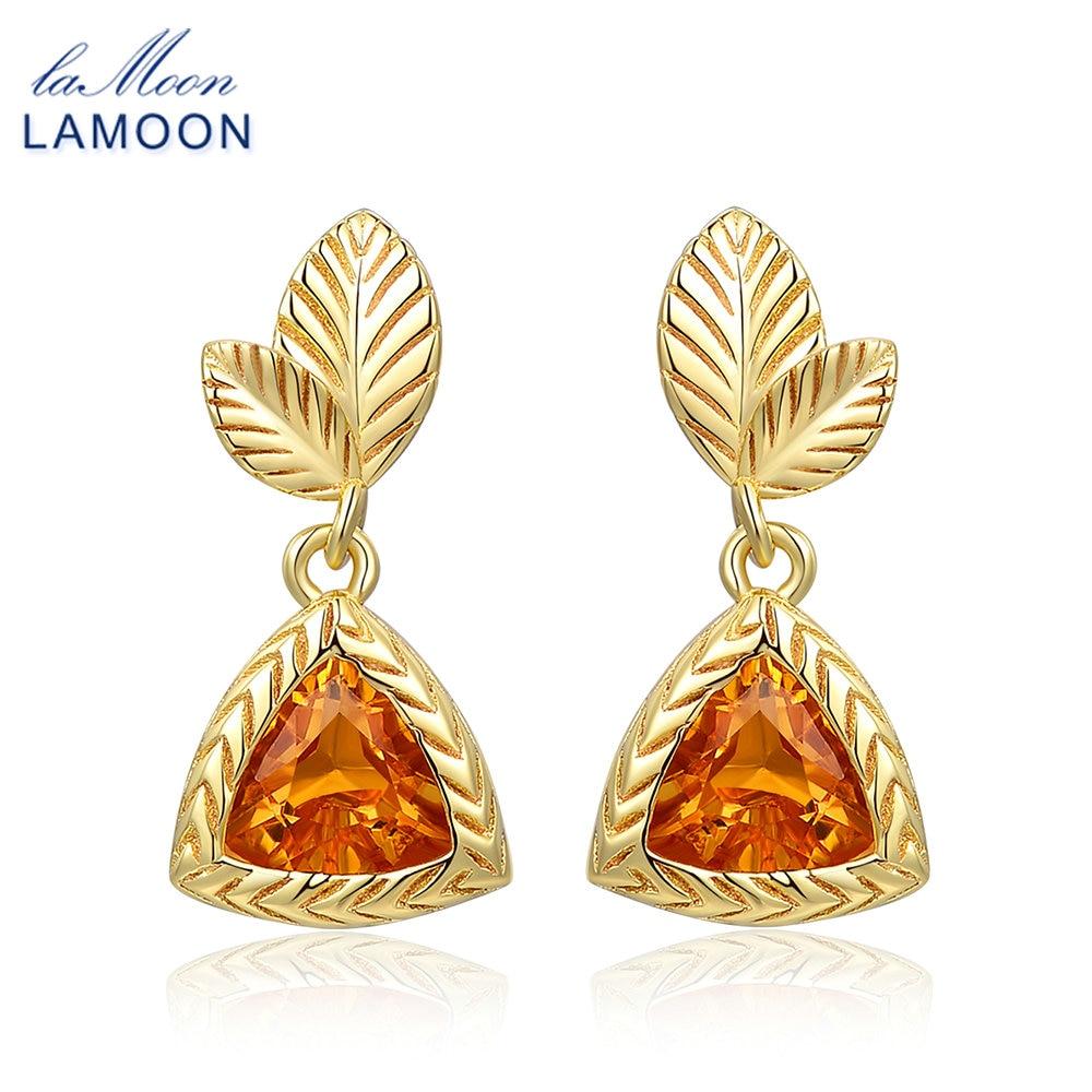 LAMOON Elegante Ohrringe Für Frauen 2ct 100% Natürlichen Edelstein - Edlen Schmuck - Foto 1