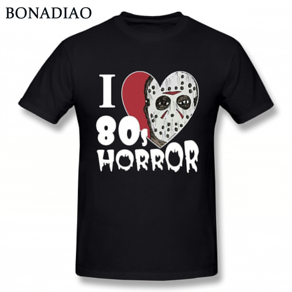 Friday the 13th best horror movies scary movies T Shirt For Male Unique Design T-Shirt Jason Voorhees