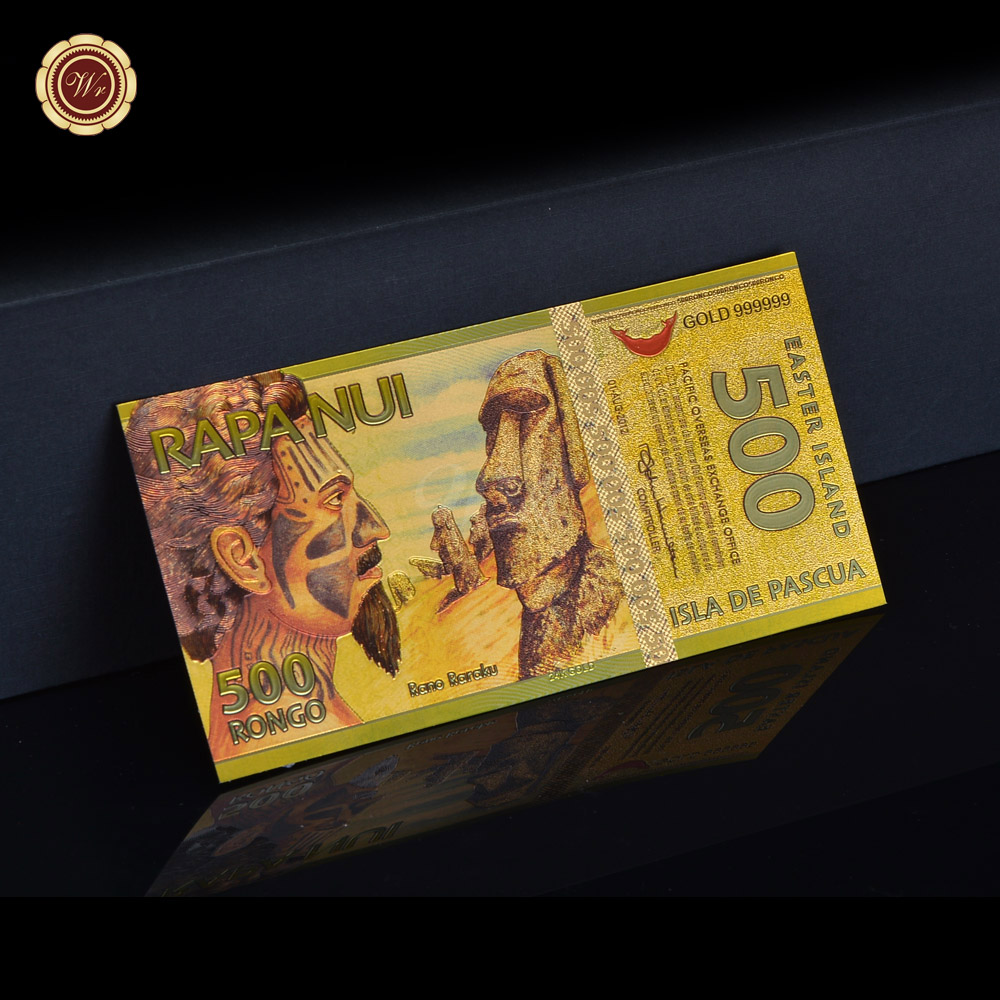 Fine quality gold banknote album coin color easter island collection fine quality gold banknote album coin color easter island collection as business gifts in gold banknotes from home garden on aliexpress alibaba negle Image collections