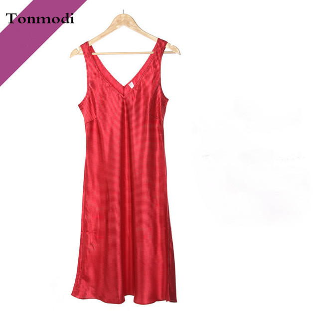 Ladies Silk Pyjamas Sleepwear Sleeveless Nightgown Maternity Clothing Lounge Sleep Nightdress