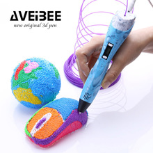 3D Pen with Filament Refills 3 D Drawing Printing Pens Add 10 Color PLA & Stencil for Kids Arts Crafts Model DIY Non-Clogging 3d pen 3 d printing drawing pens with lcd screen for doodle model making arts and crafts with 100 meter 1 75mm pla filament
