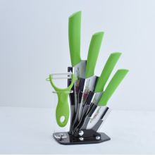 5PEC/SET Gifts Set 3″ 4″ 5″ 6″ inch Ceramic Knife with peeler Acrylic Holder Fruit Chef Kitchen Tools Tomato Peeler