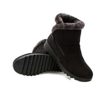 Women Ankle Boots New Fashion Waterproof Wedge Platform Winter Warm Snow Boots Shoes For Female 4
