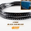 50Metres 164ft U Shape Trim Black White Checkered Strip Universal Car Interior Styling Door Outer Moulding Trim Guard Edge Roll