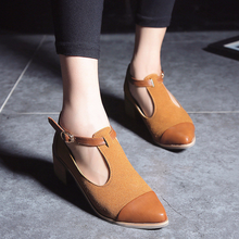 Women Pointed Toe Oxfords British Style Low Heels Patchwork Buckle Oxford Shoes Casual Vintage
