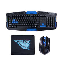 2.4G Wireless Gaming Keyboard + Game Mouse Set Combo For Desktops Laptop PC High Quality