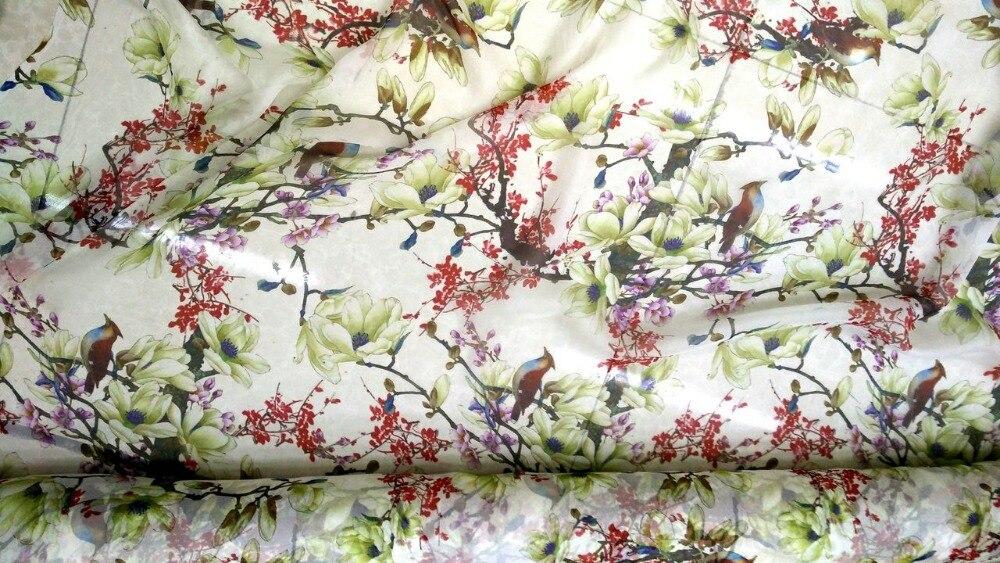 Fleurs jaune clair imprime dentelle française tissu en mousseline de soie pour coudre matière tissée Textile Tulle robe 100% tissus en soie