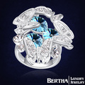 2016 Top Butterfly Finger Ring Real Platinum Plated With Swarovski Elements Crystal Ring Fashion Jewelry Accessories Bijouterie