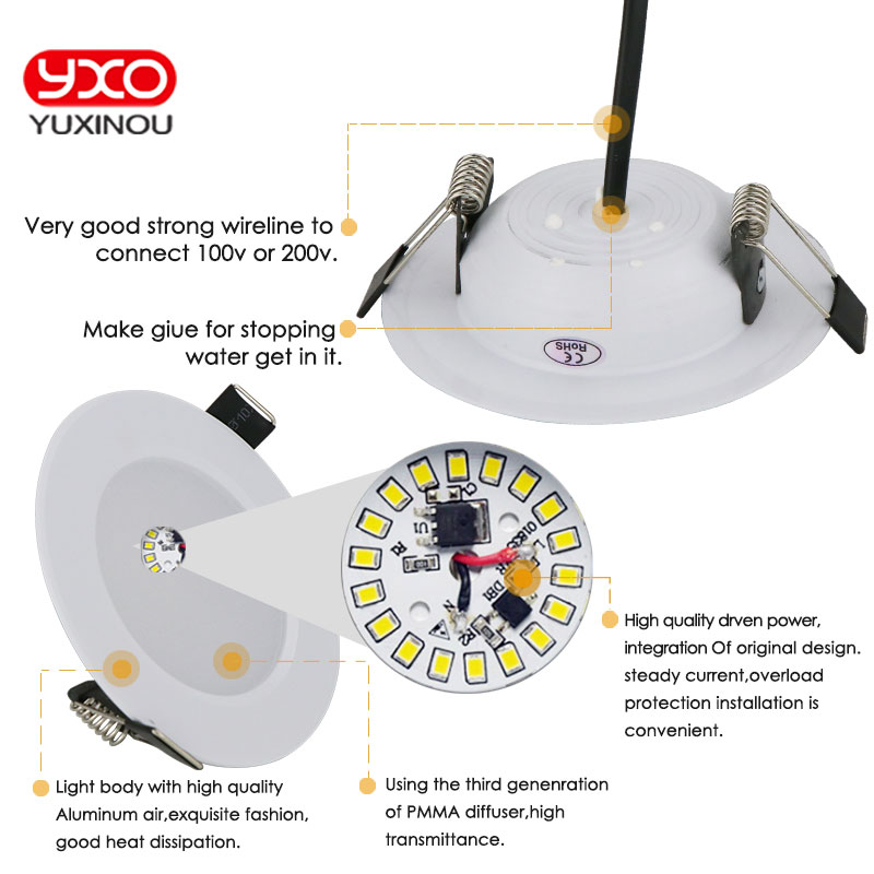 1 unids regulable impermeable LED Downlight AC110V 220V 7W / 9W / 12W - Iluminación interior - foto 6